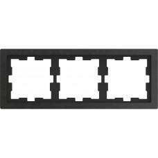 Рамка 3 постовая, Базальт, камень, D-Life Merten MTN4030-6547