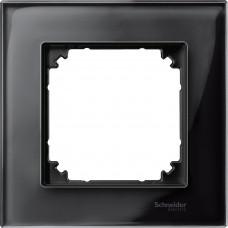 Рамка 1 постова, Онікс, скло, M-Elegance Merten MTN404103
