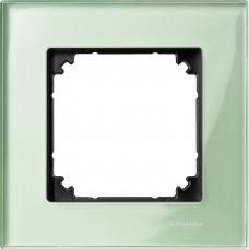 Рамка 1 постова, Ізумруд, скло, M-Elegance Merten MTN404104