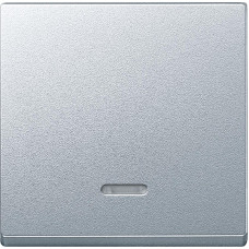 Клавіша для 1-кл. вимикачів з підсвіткою, Алюміній матовий, System-M Merten MTN431060