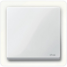 Клавіша IP44 для 1-клавішних вимикачів, Полярно-білий глянець, System-M Merten MTN432019