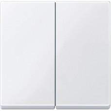 Клавіши для 2-клавішних вимикачів, Активний-білий глянець, System-M Merten MTN432525