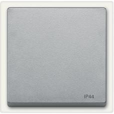 Клавіша IP44 для 1-клавішних вимикачів, Алюміній матовий, System-M Merten MTN433060