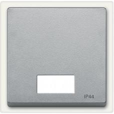 Клавіша IP44 для 1-кл. вимикачів з підсвіткою, Алюміній матовий, System-M Merten MTN433760