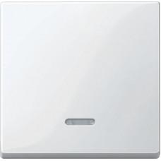 Клавіша для 1-кл. вимикачів з підсвіткою, Полярно-білий глянець, System-M Merten MTN436019