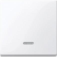 Клавіша для 1-кл. вимикачів з підсвіткою, Активний-білий глянець, System-M Merten MTN436025