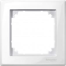 Рамка 1 постова, Полярно-білий, глянець, пластик, M-Smart Merten MTN478119