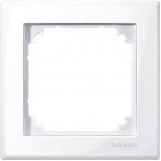 Рамка 1 постова, Активний білий, глянець, пластик, M-Smart Merten MTN478125