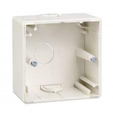 Корпус для зовнішнього монтажу, 1 пост, Полярно-білий глянець, M-Smart Merten MTN512119