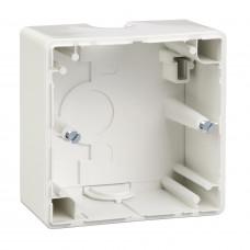 Корпус для зовнішнього монтажу, 1 пост, Активний-білий глянець, M-Smart Merten MTN512125
