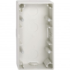 Корпус для зовнішнього монтажу, 2 поста, Полярно-білий глянець M-Smart Merten MTN512219