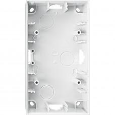 Корпус для зовнішнього монтажу, 2 поста, Полярно-білий глянець M-Elegance Merten MTN524219