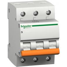 Автоматический выключатель ВА63 3П 25A C Schneider Electric 11225