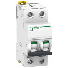 Автоматический выключатель iC60N 2P 1A B Schneider Electric A9F73201