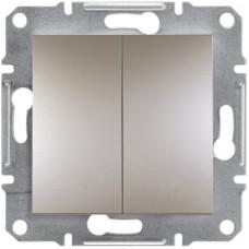 Выключатель двухклавишный, Бронза Asfora, EPH0300169