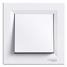 Выключатель одноклавишный проходной, Белый, Asfora EPH0400121