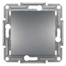 Выключатель одноклавишный проходной, Сталь Asfora, EPH0400162