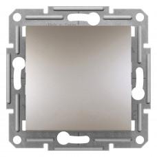 Выключатель одноклавишный проходной, Бронза Asfora, EPH0400169