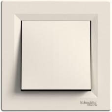 Выключатель одноклавишный перекрестный, Кремовый, Asfora EPH0500123