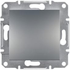 Выключатель одноклавишный перекрестный, Сталь Asfora, EPH0500162
