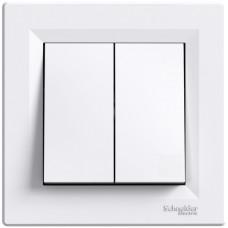 Кнопка двойная Белая, Asfora EPH1100121