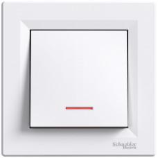 Кнопка с подсветкой Белая, Asfora EPH1600121