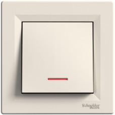 Кнопка с подсветкой Кремовая, Asfora EPH1600123
