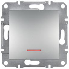 Кнопка с подсветкой Алюминий Asfora, EPH1600161