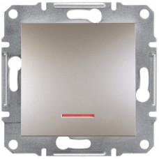 Кнопка с подсветкой Бронза Asfora, EPH1600169