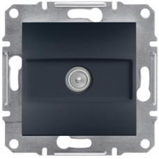 Розетка TV прохідна (8 дБ), Антрацит, Asfora, EPH3200371