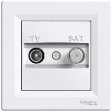 Розетка TV-SAT індивідуальна (1 дБ) Біла, Asfora EPH3400421