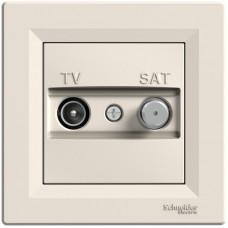 Розетка TV-SAT індивідуальна (1 дБ) Кремова, Asfora EPH3400423