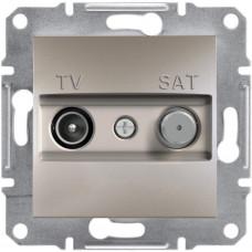 Розетка TV-SAT індивідуальна (1 дБ) Бронза, Asfora, EPH3400469