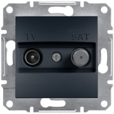 Розетка TV-SAT індивідуальна (1 дБ) Антрацит, Asfora, EPH3400471