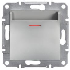 Выключатель карточный, Алюминий Asfora, EPH6200161