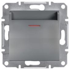 Выключатель карточный, Сталь Asfora, EPH6200162