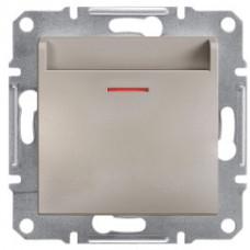 Выключатель карточный, Бронза Asfora, EPH6200169