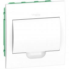 Щит пластиковий внутрішній з білими дверцятами 1ряд/8М+2КК Schneider Electric EZ9E108P2F