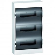 Щит пластиковий навісний з прозорими дверцятами 3ряда/36М+2КК Schneider Electric EZ9E312S2S