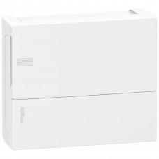 Щит MINI PRAGMA 1ряд/12 модулів, навісний, білі дверцята Schneider Electric MIP12112