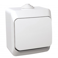 Выключатель одноклавишный, Белый, Cedar Plus WDE000510