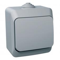Вимикач одноклавішний, Сірий, Cedar Plus WDE000610