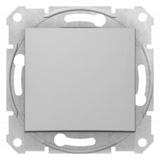 Одноклавішний вимикач10А-250В, Алюміній, Sedna SDN0100160