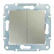 Двухклавишный выключатель10А-250В Титан, Sedna SDN0300168