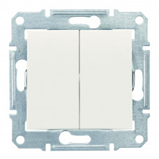 Двухклавишный выключатель10А-250В, IP44, Слоновая кость, Sedna SDN0300423