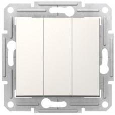 Трехклавишный выключатель10А-250В, Слоновая кость, Sedna SDN0300623