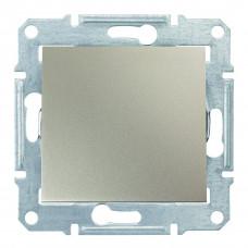 Одноклавишный переключатель 10А-250В Титан, Sedna SDN0400168