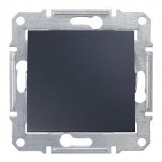 Одноклавішний перемикач 10А-250В Графіт, Sedna SDN0400170