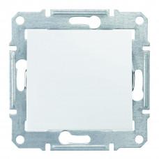 Одноклавишный переключатель10А-250В, IP44, Белый, Sedna SDN0400521