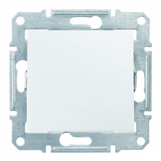 Одноклавишный перекрестный переключатель10А-250В, Белый, Sedna SDN0500121
